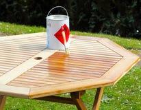 Soulignez la table en bois photo stock