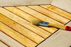 Soulignez la table en bois photos stock