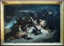 """Souliotes de Les Femmes por Ary Scheffer 1795†""""1858 Grelha Imagem de Stock"""
