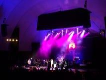 Souljahz rebelde canta en etapa en el concierto de MayJah RayJah Foto de archivo libre de regalías