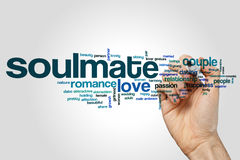 Soulmate word cloud Stock Images