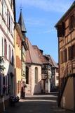 Soultzbach-les-Bains, village of Alsace Stock Photography