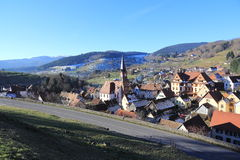 Soultzeren, village in the Vosges. Typical village in the valley of Munster in Alsace Stock Photography