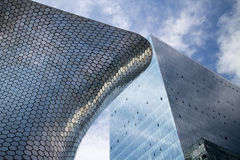 Soumaya and Carso Buildings. MEXICO CITY, MEXICO -  DEC, 27, 2012: Plaza Carso is a building complex consisting of the Soumaya museum, commercial and residential Royalty Free Stock Images
