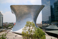 Soumaya and Carso Buildings. CIUDAD DE MEXICO, MEXICO -  APR, 25, 2015: Soumaya museum with over 66,000 works from 30 centuries of art . Mexico City, Mexico on Royalty Free Stock Image