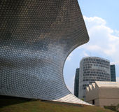 Soumaya and Carso Buildings. Soumaya museum with over 66,000 works from 30 centuries of art . Mexico City, Mexico on APR, 25, 2015 Royalty Free Stock Photos