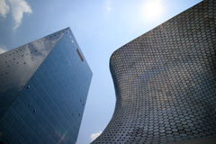 Soumaya and Carso Buildings Stock Images