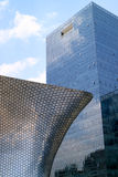 Soumaya and Carso Buildings. Soumaya museum with over 66,000 works from 30 centuries of art . Mexico City, Mexico on APR, 25, 2015 Royalty Free Stock Image