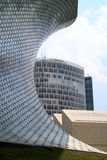Soumaya and Carso Buildings. Soumaya museum with over 66,000 works from 30 centuries of art . Mexico City, Mexico on APR, 25, 2015 Stock Images