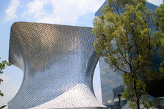 Soumaya and Carso Buildings. Soumaya museum with over 66,000 works from 30 centuries of art . Mexico City, Mexico on APR, 25, 2015 Stock Image