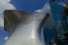 Soumaya museum. MEXICO CITY,MEXICO-SEPTEMBER 20,2016: View of the soumaya museum, an iconic building , landmark of mexico city, Mexico Royalty Free Stock Photo