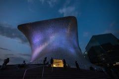 Soumayo museum Museo Soumaya som planläggs av den mexicanska arkitekten Fernando Romero arkivfoton
