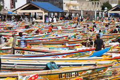 Soumbedioune fish market in Dakar, Senegal Royalty Free Stock Photos