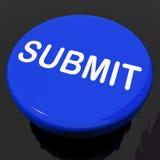 Soumettez les expositions de bouton soumettant la soumission ou la requête illustration stock