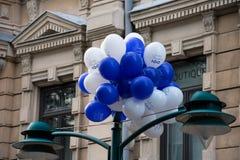 Soumi Finland 100 ballons Stock Afbeelding