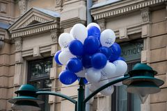 Soumi Finlandia 100 balonów Obraz Stock