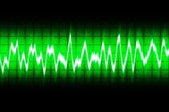 Sound. Illustration of white soundwave on green screen Royalty Free Stock Photo