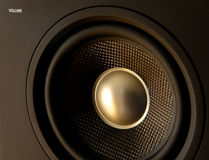 Sound !. Close-up of one baffle of hi-fi surrounding speaker Stock Photography