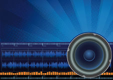 Sound. Vector illustration - sound symbol background Royalty Free Stock Photos