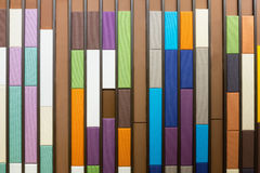 Sound absorbent wall. Closeup of colorful sound absorbent wall panel royalty free stock photos