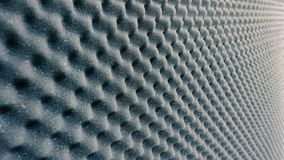 Sound absorber sheet grey color. Sound absorber sheet grey color and very soft material for professional sound recording studio royalty free stock photo