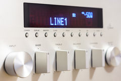 Sound amplifier receiver front panel Stock Images