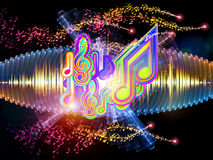 Sound Analyzer. Sound wave background suitable as a backdrop for music, technology and sound projects Stock Photo
