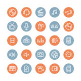 Sound And Video Flat Icons Set Royalty Free Stock Photos