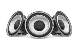 Sound Audio Loudspeakers Isolated. On white background. 3D render vector illustration