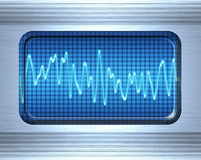 Sound or audio wave Royalty Free Stock Photo