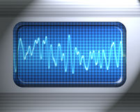 Sound or audio wave Royalty Free Stock Photography