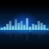 Sound & Audio Waves. On black royalty free illustration