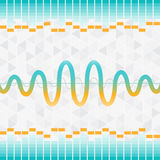 Sound and audio waves equalizer background Royalty Free Stock Image
