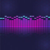 Sound and audio waves equalizer Royalty Free Stock Photo