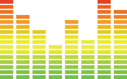 Sound Bar Chart Royalty Free Stock Image