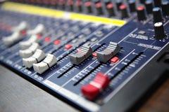 Sound blandare Arkivbild