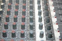 Sound blandare för kontrollbräde Fotografering för Bildbyråer