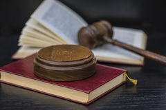 Sound block and gavel Royalty Free Stock Images