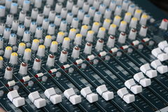 Sound board. A picture of a mixing sound board stock photos