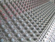 Sound Board. A Multitude of Buttons on an Audio Mixer Control Panel Stock Photos