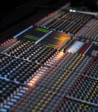 The sound board. The professional board for management of a sound Royalty Free Stock Photos