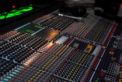 The sound board. The professional board for management of a sound Royalty Free Stock Image