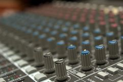 Sound board controls Stock Photos