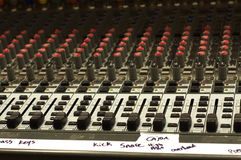 Sound board with labels Royalty Free Stock Photos