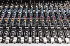 Sound board mixer Stock Photos