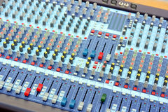 Sound board mixer fragment Royalty Free Stock Photos