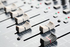 Sound Board Sliders Royalty Free Stock Photos