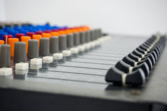 Sound Board - Stock Image. Sound Mixer Board In Stock Image professional Studio Room Royalty Free Stock Photos