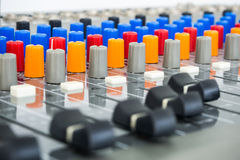 Sound Board In Studio - Stock Image Royalty Free Stock Images