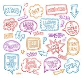 Sound bubble speech bubbles with phrases word. royalty free illustration